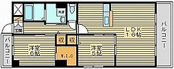 ラシュレ浜野[2階]の間取り