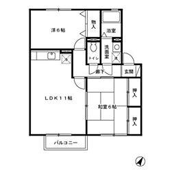 リッツハウス[205号室]の間取り
