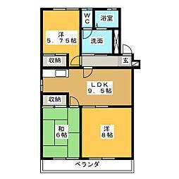 浜野マンション2[3階]の間取り