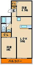 CASA IZUMI A棟[1階]の間取り