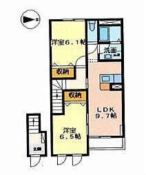 ガーデンシティ ムロノキ[2階]の間取り