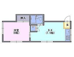 日生ハイツ[2階]の間取り