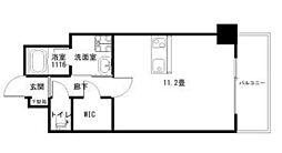 Ko Olina Ukinojo 8階ワンルームの間取り