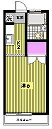 リュウコーハイム[2階]の間取り