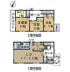 [一戸建] 滋賀県草津市野路8丁目 の賃貸【/】の間取り