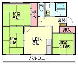 藤野ビル[1階]の間取り