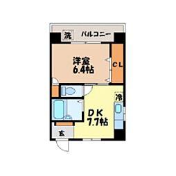 長崎県長崎市平野町の賃貸マンションの間取り