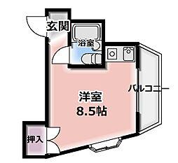 レジデンス門真[4階]の間取り