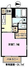 埼玉県川口市西立野の賃貸アパートの間取り