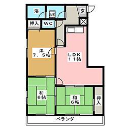 新日半田住吉ビル[4階]の間取り