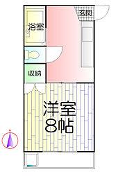 コーポ秋山[2階]の間取り