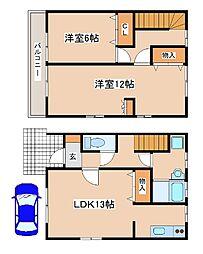 兵庫県明石市大久保町わかばの賃貸アパートの間取り