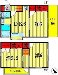 [一戸建] 東京都葛飾区東金町5丁目 の賃貸【東京都 / 葛飾区】の間取り