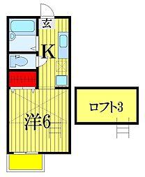 カーサモンフォール[2階]の間取り
