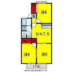 オーシャンサイドI[2階]の間取り