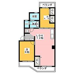 SIERRA HIKARIGAOKA B棟[3階]の間取り