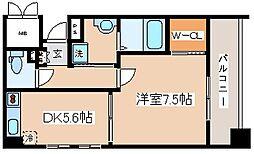 兵庫県神戸市長田区松野通1丁目の賃貸マンションの間取り