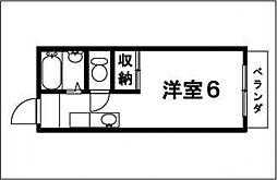 スパローハイツ1[206号室号室]の間取り