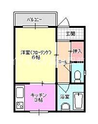 香川県高松市花園町2丁目の賃貸マンションの間取り