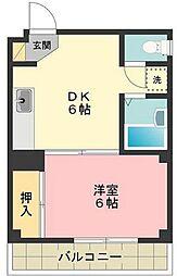 かすみ台コーポ2[3階]の間取り