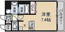 レオンコンフォート新梅田[6階]の間取り