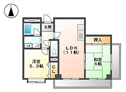 カーサ御成[1階]の間取り