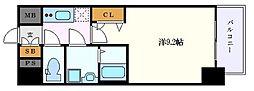 名古屋市営東山線 栄駅 徒歩7分の賃貸マンション 12階1Kの間取り