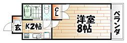 KMマンション八幡駅前III[6階]の間取り