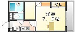 香川県坂出市西大浜北1の賃貸マンションの間取り