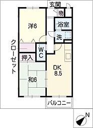 Maple S A棟[1階]の間取り
