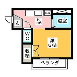 エステート12[4階]の間取り