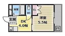 エルドムス陽光一番館[4階]の間取り