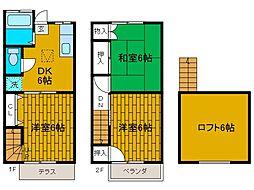 [テラスハウス] 神奈川県相模原市南区文京1丁目 の賃貸【神奈川県 / 相模原市南区】の間取り