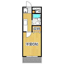 さわらびマンション[202号室]の間取り