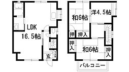 [一戸建] 兵庫県川西市錦松台 の賃貸【/】の間取り