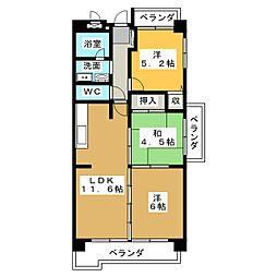 横山マンション[2階]の間取り