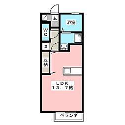 ルミナス有松[1階]の間取り