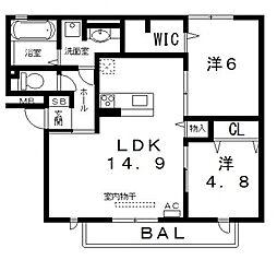 仮)D-room高美町[102号室号室]の間取り