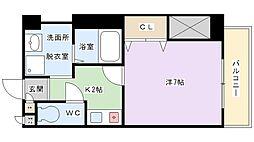 M PLAZA香里参番館[3階]の間取り