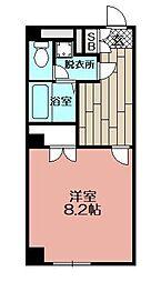 アンプルールフェール福岡[204号室]の間取り