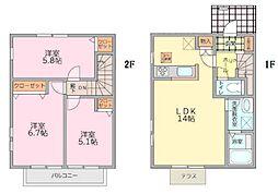 [テラスハウス] 神奈川県大和市中央林間西5丁目 の賃貸【神奈川県 / 大和市】の間取り