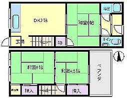 [テラスハウス] 大阪府大阪市住吉区長居東4丁目 の賃貸【/】の間取り