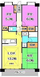 東京都練馬区大泉町4丁目の賃貸マンションの間取り
