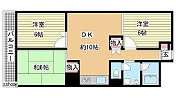 上野ハイツ[412号室]の間取り