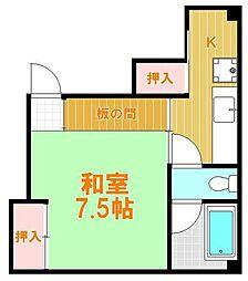 東京都葛飾区立石7丁目の賃貸マンションの間取り