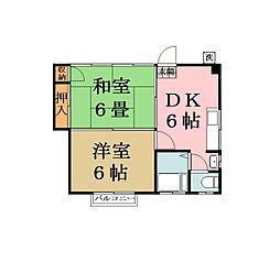 土屋コーポ[2階]の間取り