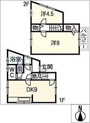 [一戸建] 岐阜県関市平賀町1丁目 の賃貸【/】の間取り