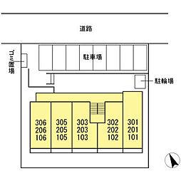 (仮称)D−room松葉町[302号室]の外観
