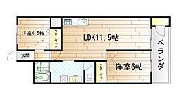 第5共立マンション[7階]の間取り