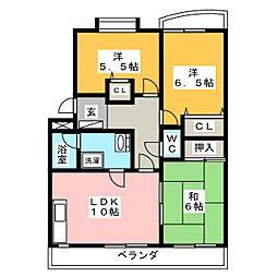 ラフィネ藤里[1階]の間取り